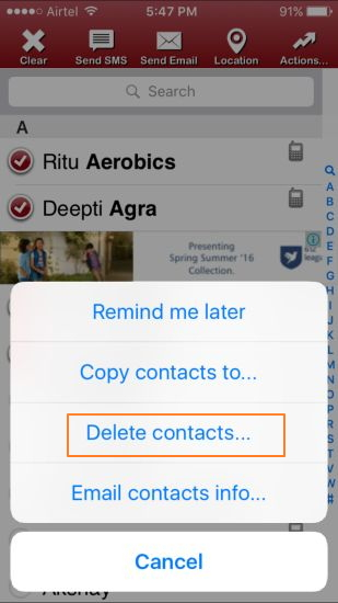 Comment supprimer des contacts sur iPhone avec une application iPhone