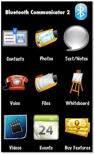 Transfert de fichiers iphone bluetooth