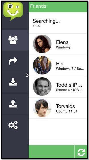 Transfert iphone par wifi