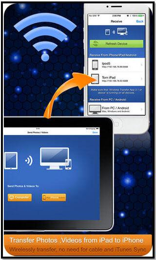 Transfert de fichiers bluetooth sur iphone