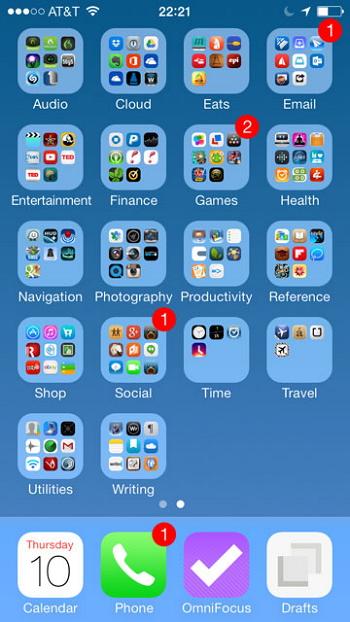 Utiliser un dossier ou de nouvelles pages pour gérer les applications sur iPhone
