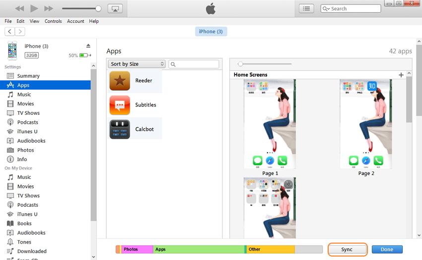 Comment transférer des applications d'iTunes vers iPhone