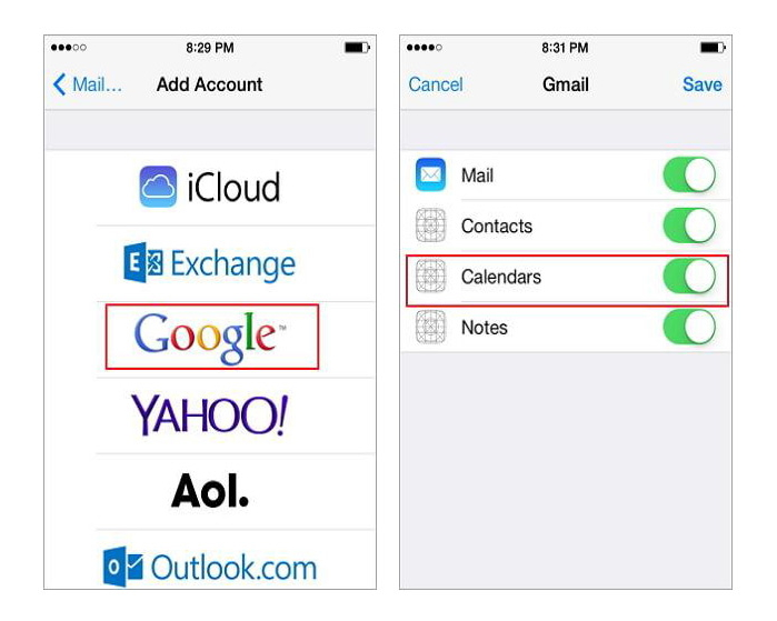 Synchroniser les contacts gmail avec l'iphone