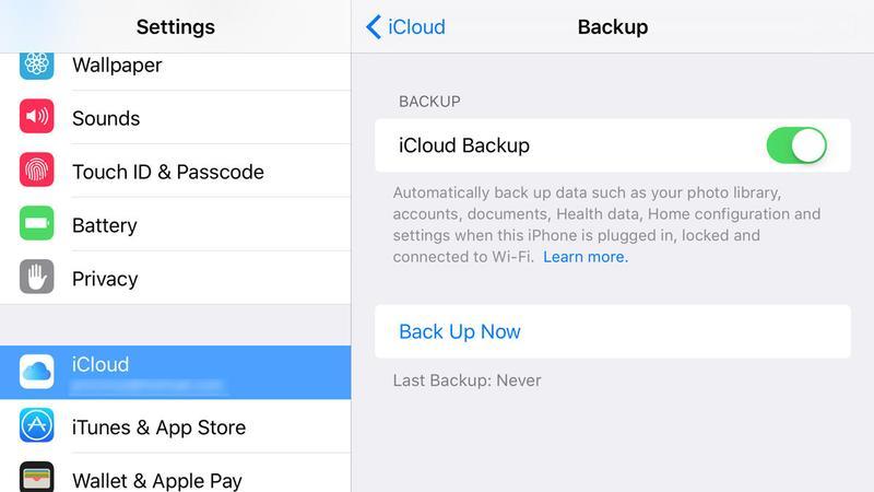 Sauvegarde des SMS iPhone avec iCloud