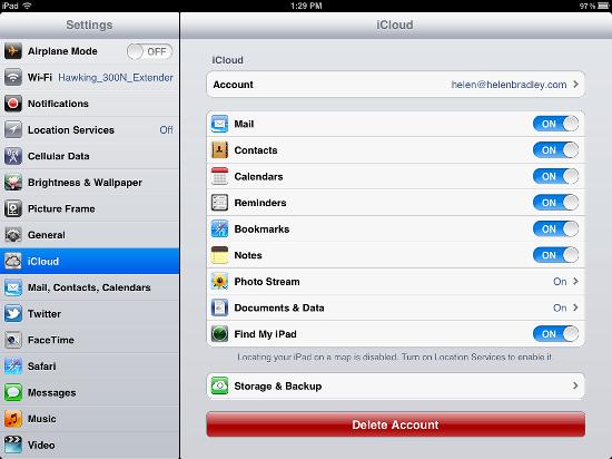 Synchroniser l'agenda de l'iPhone - Activer les calendriers