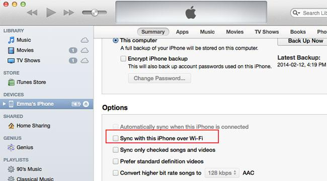Synchronisation iphone avec mac