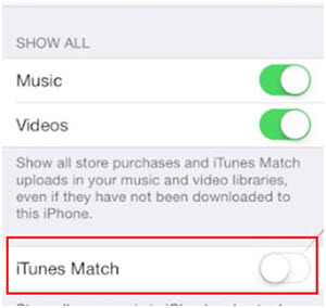 delete duplicate sonds on ipod/iphone/ipad-Turn off the iTunes match