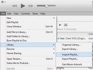 copy playlist from iPod to iTunes-import playlist