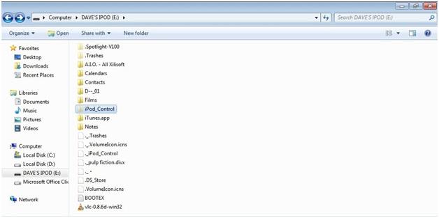 Comment déverouiller iPod Touche sans iTunes-open the folder