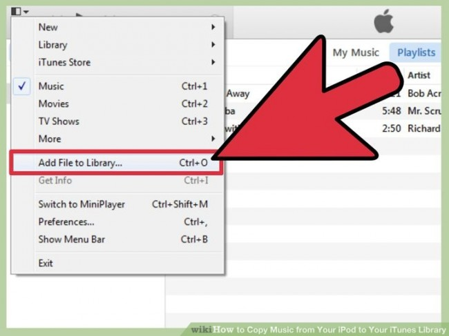 Comment copier de la musique d'iPod vers iTunes-ajouter de la musique sur votre bibliothèque iTunes