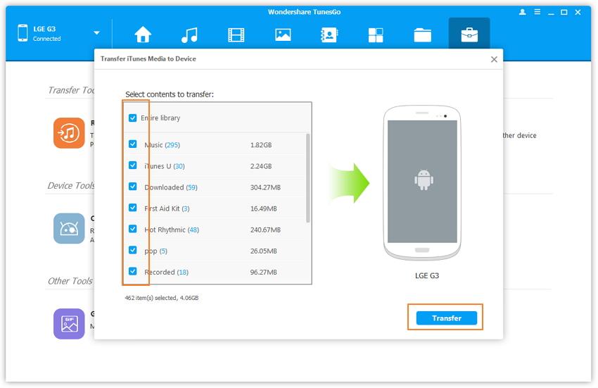 Alternatives à Syncmate pour transférer depuis itunes vers android-transférer