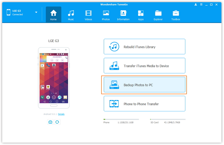Synchroniser iTunes avec Android-Synchroniser les photos Android sur PC ou Mac