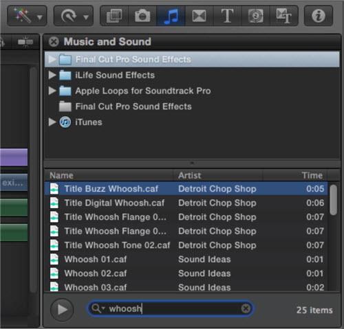 Comment importer de le musique depuis iTunes vers Final Cut Pro-Musique et Son
