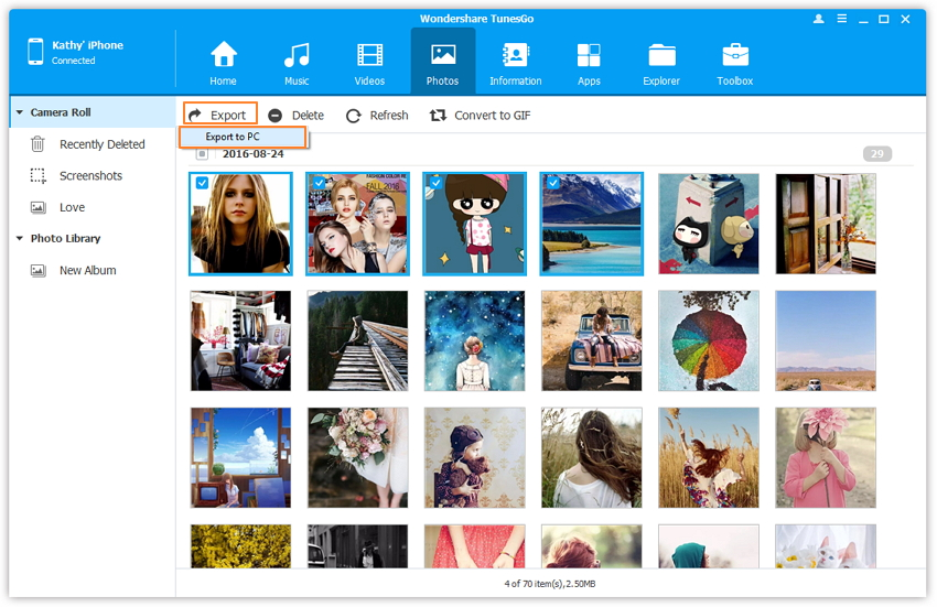 1-Click iPhone Photo Transfer to Transfer Photos from iPhone to Computer