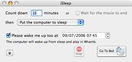 mise en veille iTunes-iSleep