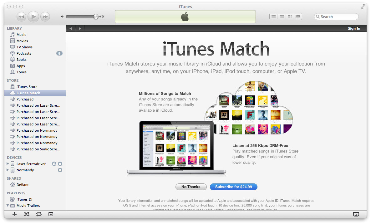itunes music vs apple music-iTunes Match
