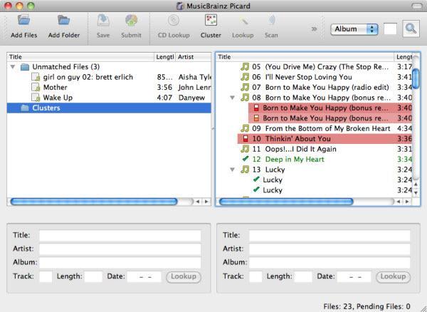 éditeur de musique pour iTunes-MusicBrainz Picard