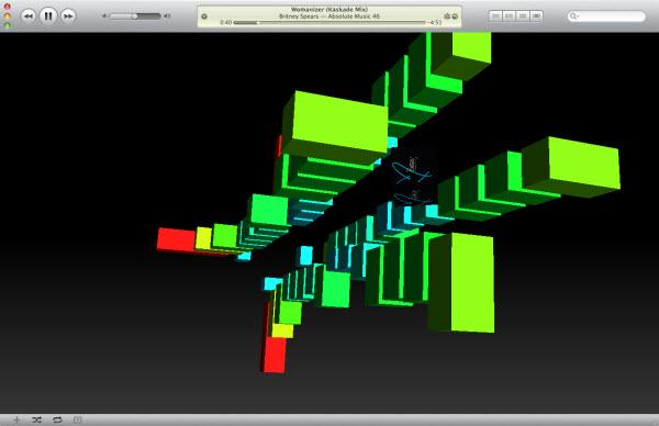 visualiseur iTunes cubism