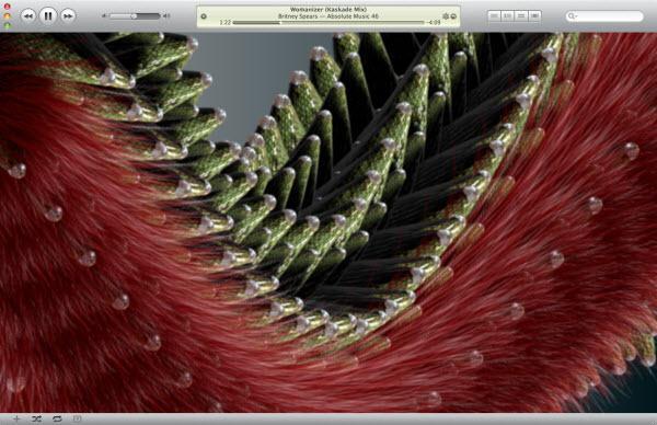 visualiseur iTunes dragon