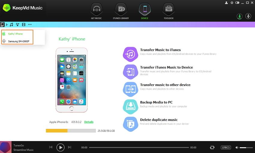 comment partager de la musique sur iTunes -Partager la musique entre android et ios