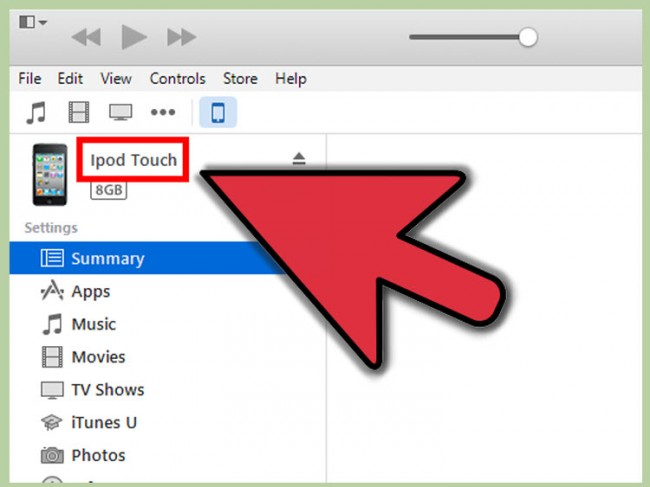 How to Transfer Songs from iTunes to iPod Using iTunes- click devices