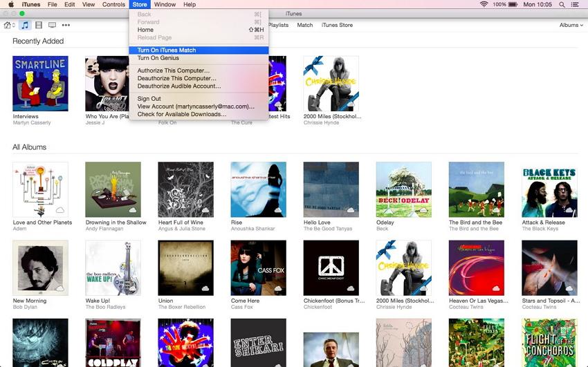 Comment synchroniser l'ipad avec iTunes - activer iTunes match