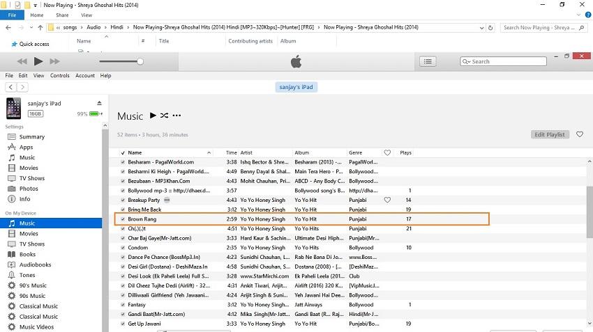 Comment transférer les chansons d'iTunes vers iPad-faire glisser la musique sur ipod