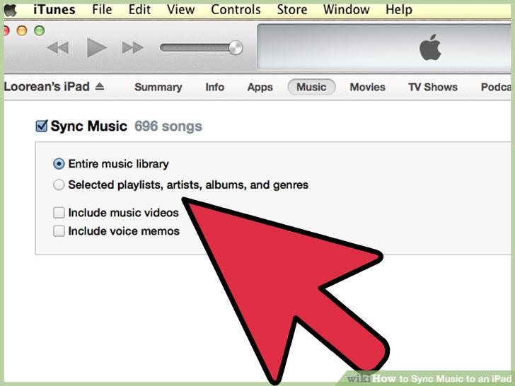 Comment transférer les chansons d'iTunes vers iPad-Synchroniser la musique