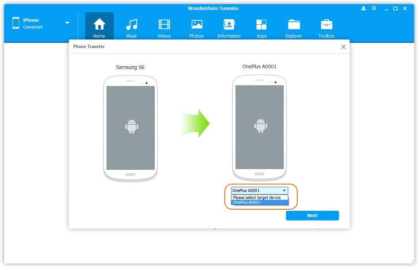 Transférer des vidéos d'android vers android
