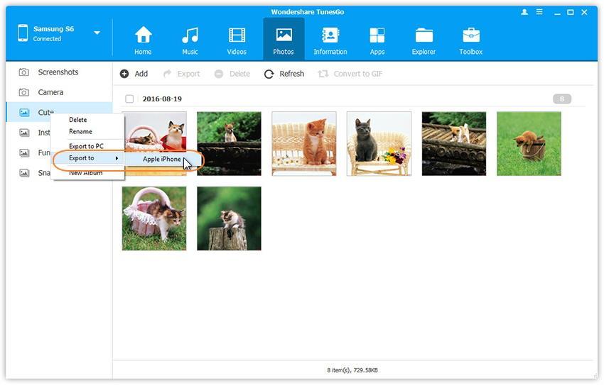 transférer des albums photos entre le google pixel et le pc