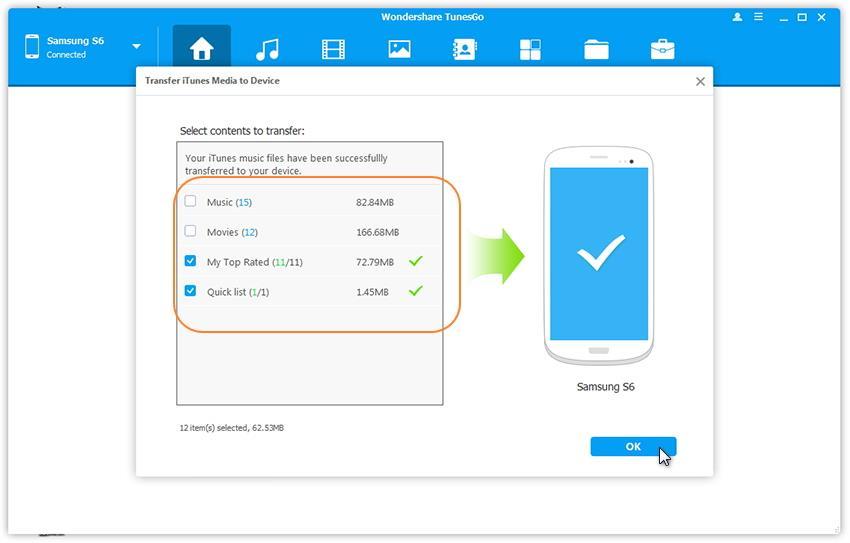comment importer des playlists iTunes du pc sur Samsung Galaxy Note 7