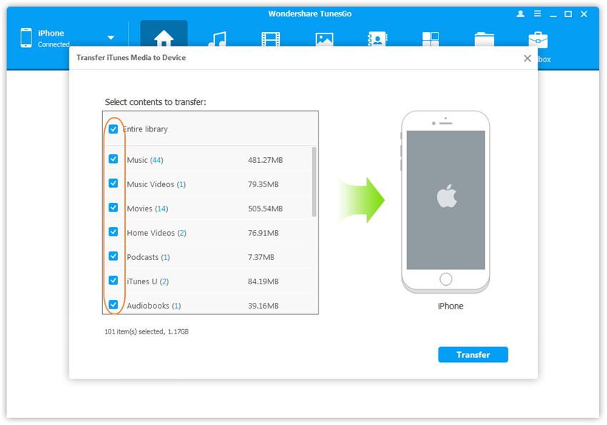 Synchroniser de la musique de l'iPhone avec iTunes