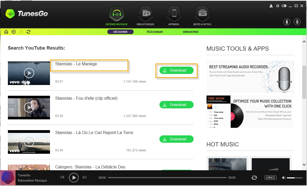 Download Music/Playlists from TunesGo to iTunes Directly