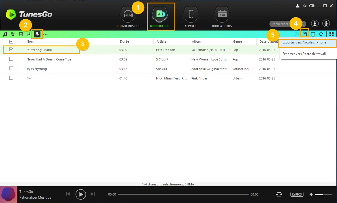 Record Music from Spotify/Streaming Sites to iPhone/iPad/iPod