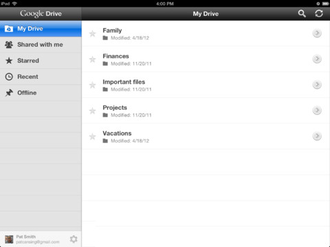 Transfer Files from iPhone to iPad via Google Drive - Upload iPhone Files