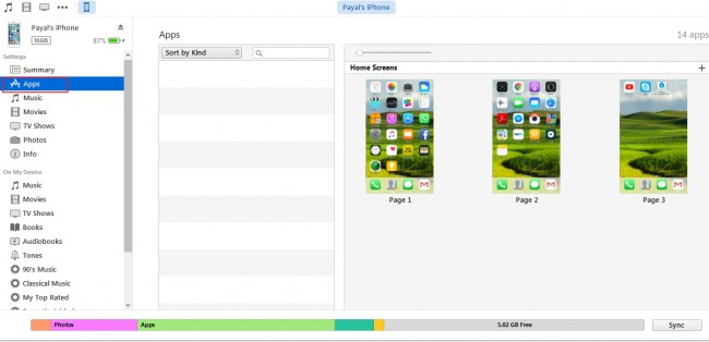 Transferring files from PC to iPhone - select apps