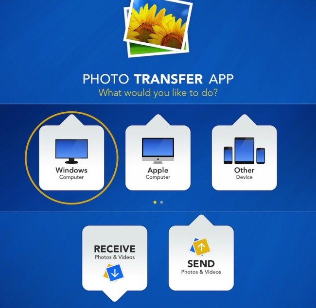 Transfer Photos from iPad to PC Using the Photo Transfer App - Choose Target