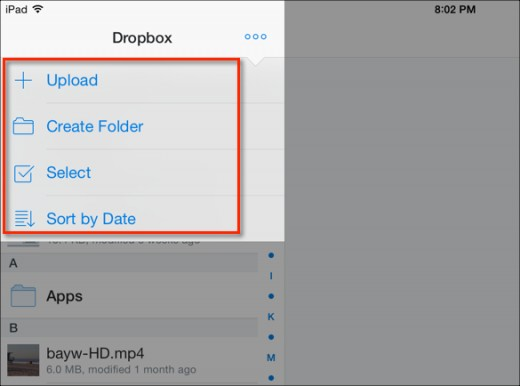 transfer music from iPad to PC - Start Dropbox