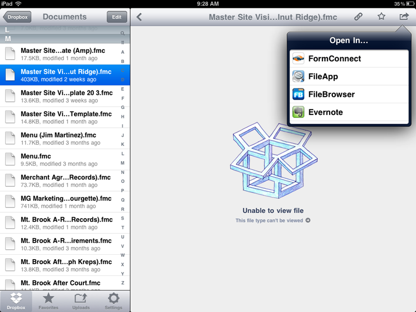 Transfer Files from iPhone to iPad via Dropbox