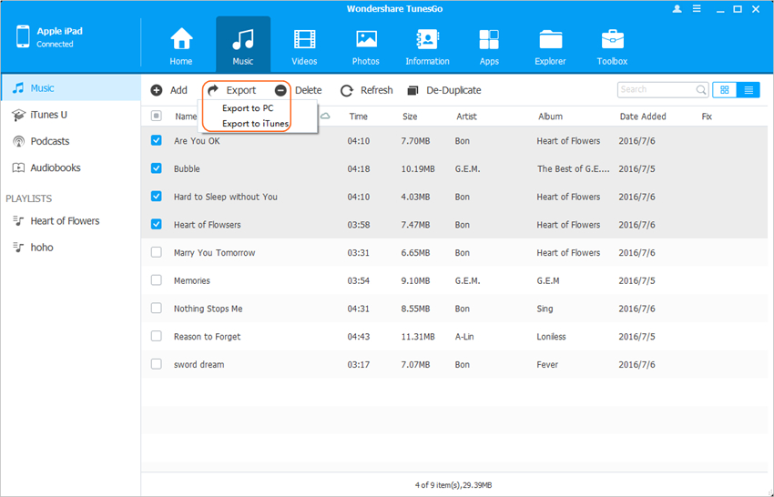 Transfer Files from iPad - Transfer Files