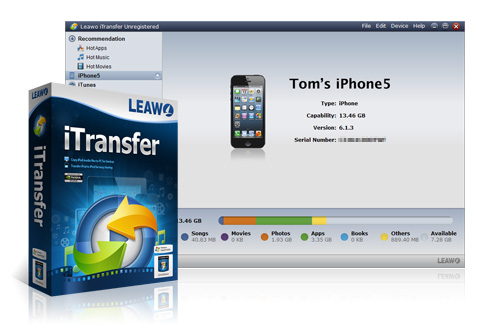 Transfer Apps from iPad to iPad - Leawo iTransfer