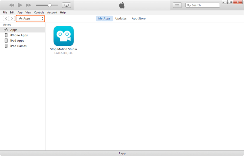 transfer apps from iTunes library to iPad - step 3: select apps