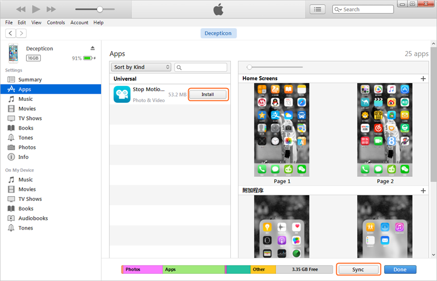 Transfer Apps from iPad to iPhone with iTunes - Transfer Apps