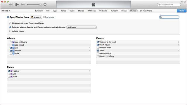 utilizzare itunes per trasferire foto immagini da mac a ipad