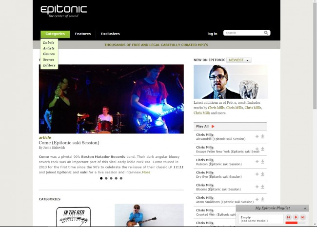 Download Music from Epitonic to PC - Choose Category