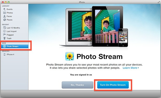 Transfer Photos from iPad to iPhone - using photo stream
