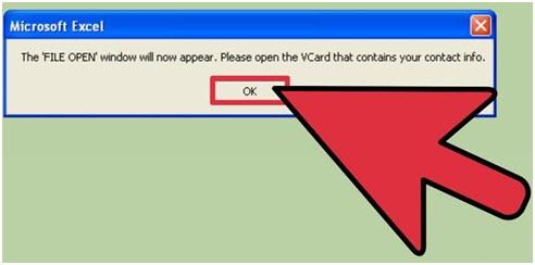 selezionare determinati contatti dal file vcf ed esportazione per iphone