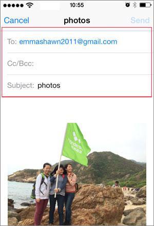 ottenere i video da iphone al mac tramite email