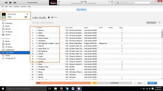 modifica elenco di riproduzione su ipod con itunes