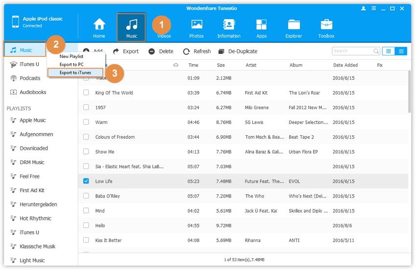 un modo facile per trasferire musica da ipod classic al itunes automaticamente